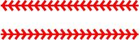 Baseball Stitches Decal / Sticker 3