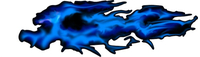 Blue True Fire Decal / Sticker B11