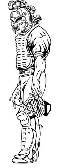 Baseball Knights Mascot Decal / Sticker 1