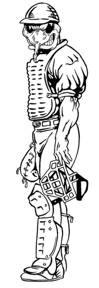 Baseball Catcher Hornet, Yellow Jacket, Bee Mascot Decal / Sticker