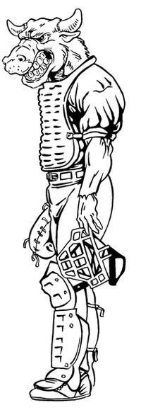 Baseball Bull Mascot Decal / Sticker 01