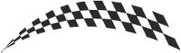 Checkered Flag Decal / Sticker 39