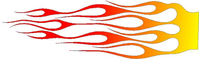 Yellow to Red faded flames Decal / Sticker