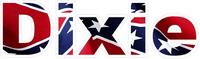 Dixie Confederate Flag Decal / Sticker 01