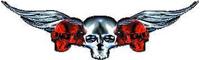Red Winged Skulls Decal / Sticker J2