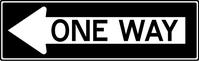 One Way Decal / Sticker 04