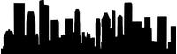 Singapore Skyline Silhouette Decal / Sticker 01