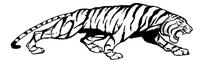 Tigers Torso Mascot Decal / Sticker 3
