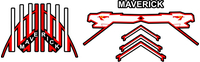 Top Gun Maverick Helmet Decal / Sticker Set 01