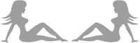 Mudflap Girls Decal / Sticker (Set of 2)