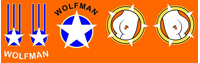 Top Gun Wolfman Helmet Decal / Sticker Set 01