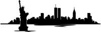 New York Skyline Silhouette Decal / Sticker 01