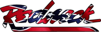 Redneck Lettering Confederate Flag Decal / Sticker 02