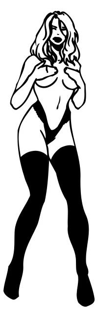 Sexy Girl Decal / Sticker 03