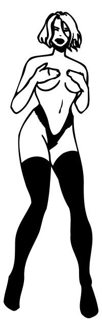 Sexy Girl Decal / Sticker 08