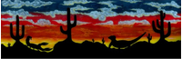 Desert Mural Decal / Sticker 01