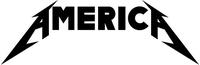 Metallica Style America Decal / Sticker 01