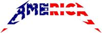 Metallica Style America Decal / Sticker 04