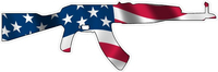 American Flag AK-47 Decal / Sticker