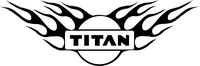 Flaming Nissan Titan Decal / Sticker 05