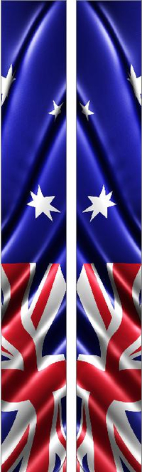 z 10 Inch Dual Australian Flag Racing Stripe Decal / Sticker