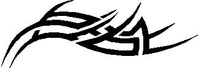 Tribal Decal / Sticker 64