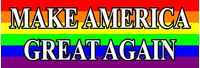 LGBT Flag MAGA Decal / Sticker 05