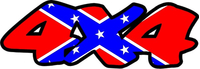 Z 4x4 Confederate Flag Decal / Sticker 04