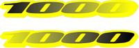 Black to Yellow Fade Suzuki 1000 Pair Decals / Stickers d