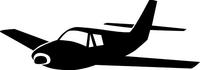 Airplane Decal / Sticker 08