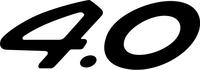 Porsche 4.0 Numbers Decal / Sticker d