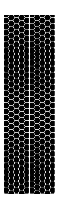 10 Inch Honeycomb Dual Racing Stripe Decal / Sticker