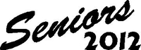 Seniors 2012 Decal / Sticker