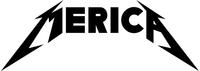 Metallica Style Merica Decal / Sticker 02