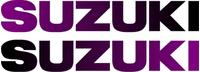 Black to Purple Fade Suzuki Pair Decals / Stickers