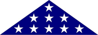 American Burial Flag Decal / Sticker 45