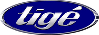 Simulated 3D Chrome Tige Decal / Sticker 06