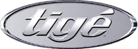 Simulated 3D Chrome Tige Decal / Sticker