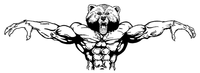 Weight Training Bear Mascot Decal / Sticker 11