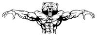 Weight Training Bear Mascot Decal / Sticker 11