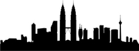 Kuala Lumpur Skyline Silhouette Decal / Sticker 01