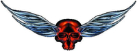 Red Winged Skull Decal / Sticker