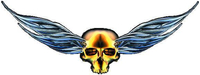 Gold Winged Skull Decal / Sticker