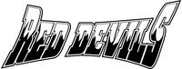 Red Devils Mascot Decal / Sticker