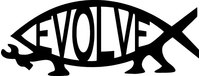 Evolve Darwin Fish Decal / Sticker 01