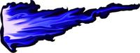 Blue True Fire Decal / Sticker 309d