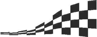 Checkered Flag Decal / Sticker 11