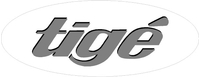 White Oval Tige Decal / Sticker