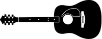 Acoustic Guitar Decal / Sticker 02