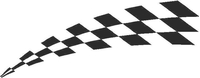 Checkered Flag Decal / Sticker 41
